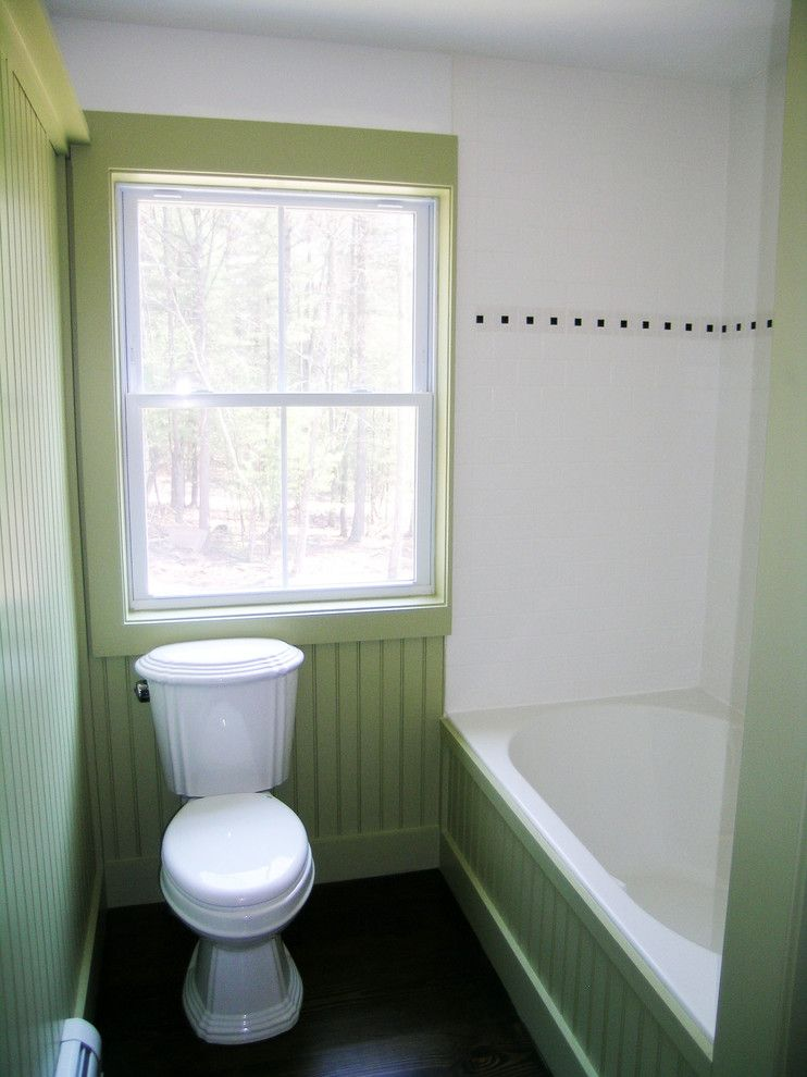 Catskill Farms for a Traditional Bathroom with a Green and Bathrooms by Charles Petersheim, Builder
