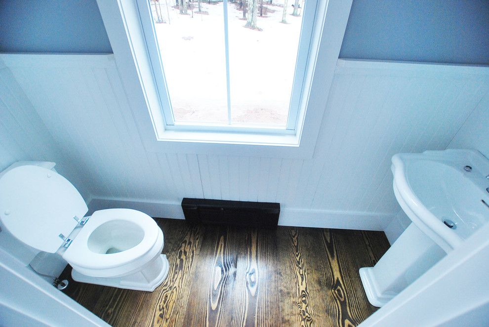 Catskill Farms for a Traditional Powder Room with a Ulster County and Bathrooms by Charles Petersheim, Builder