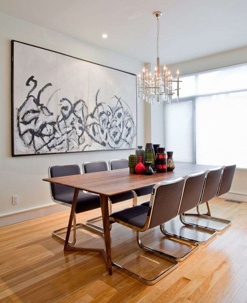 Cb2 Locations for a Contemporary Dining Room with a Eating Area and Dining Room by Shirley Meisels