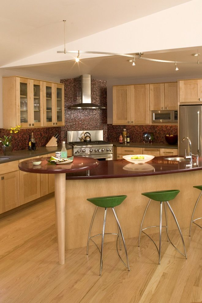 Cb2 Locations for a Contemporary Kitchen with a Glass Front Cabinets and Kitchens by Julie Williams Design by Julie Williams Design