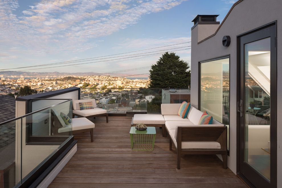 Cb2 Locations for a Modern Deck with a San Francisco and San Francisco Home with a View by Visual Jill Interior Decorating
