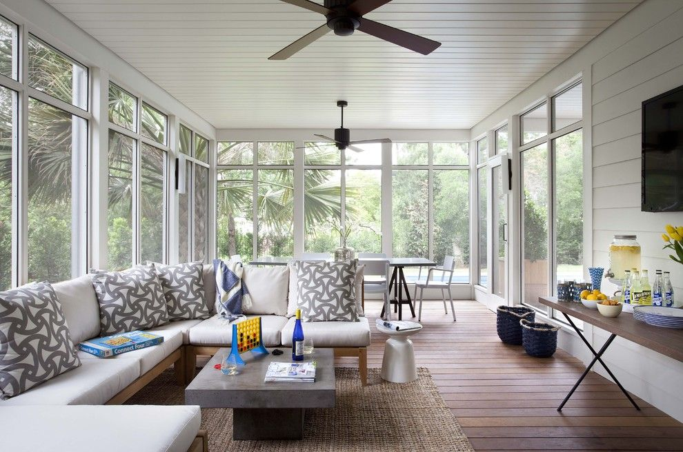 Cb2 Locations for a Traditional Porch with a Floor to Ceiling Windows and Pemberton Addition/renovation by Tim Cuppett Architects