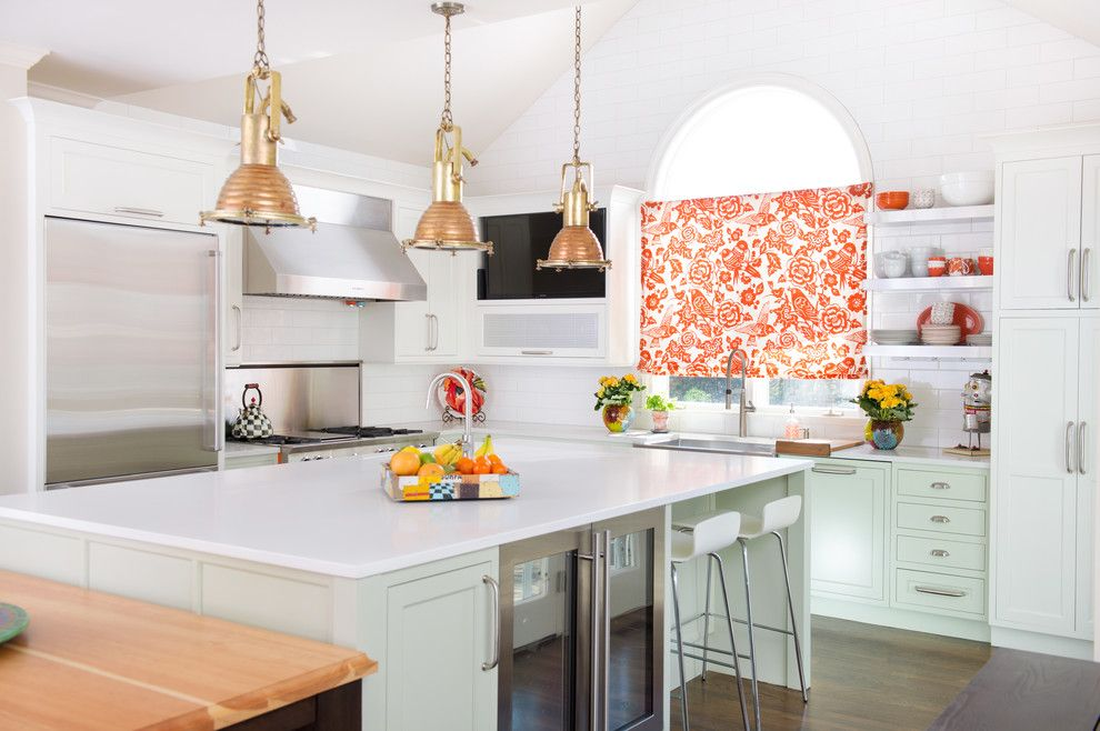 Cb2 Locations for a Transitional Kitchen with a Sub Zero and Leawood, Ks Colorful Kitchen by Kitchen Studio: Kansas City
