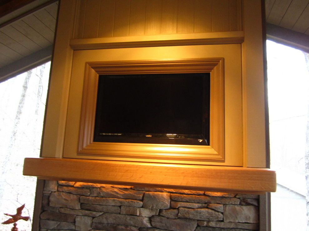 Cdx Plywood for a Craftsman Porch with a Fireplace on Porch and Fireplace and Hidden Tv Compartment by Nasitra