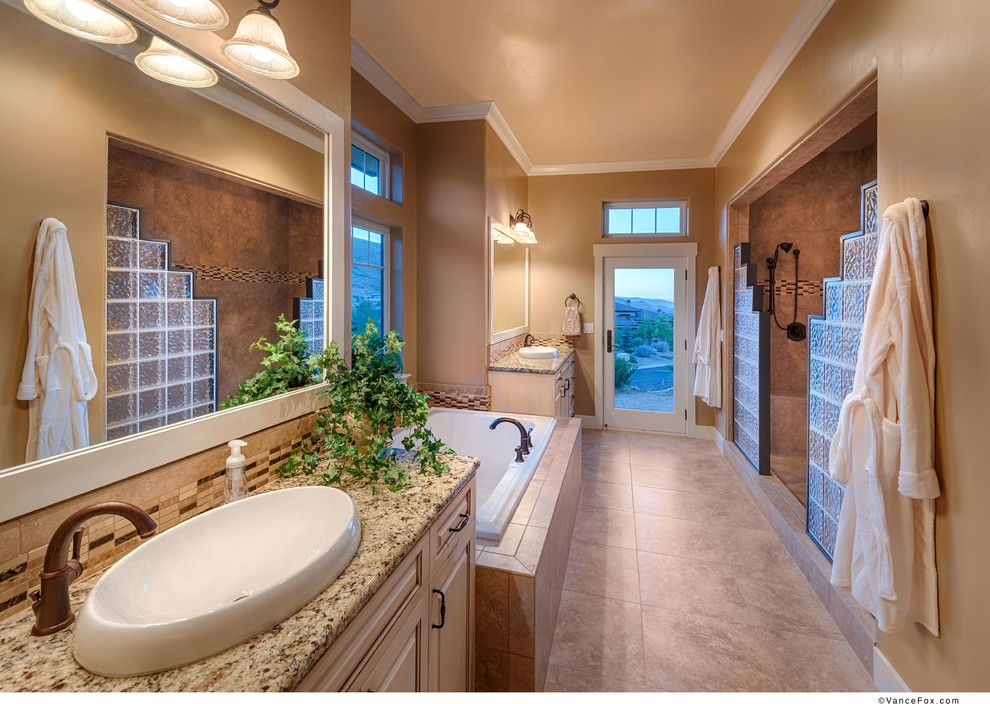 Cdx Plywood for a Transitional Bathroom with a Crown Molding and Arrowcreek Custom 1 by Tanamera Construction / Tc Homes