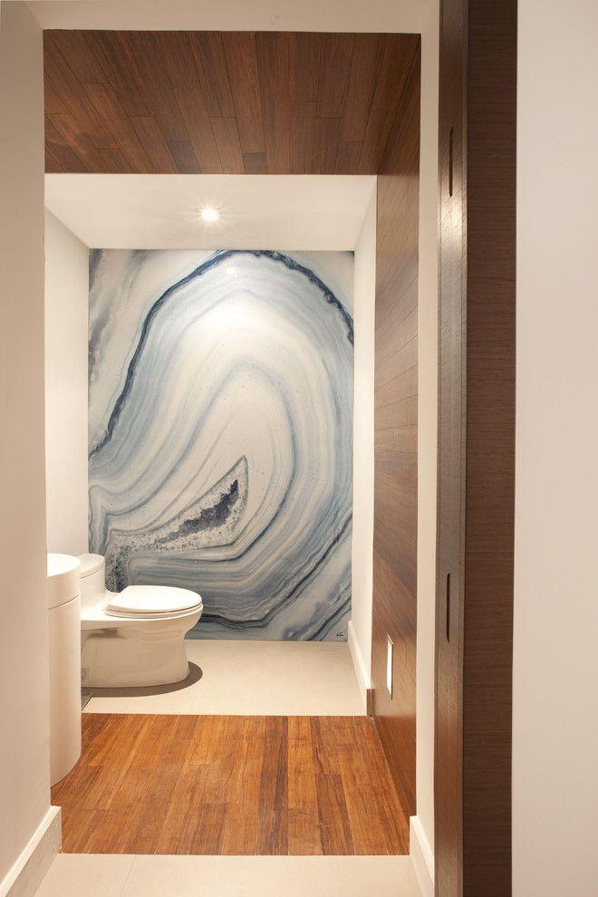 Ceasar Stone for a Contemporary Bathroom with a Miami Modern Design and a Modern Miami Home by Dkor Interiors Inc.  Interior Designers Miami, Fl