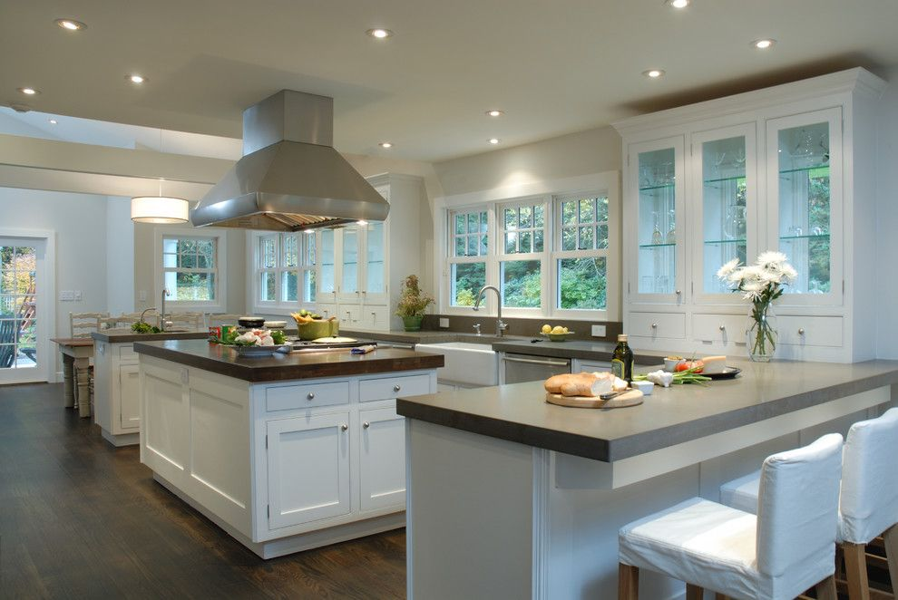 Ceasar Stone for a Contemporary Kitchen with a Small Bones Replica Kitchen and Muttontown Home by Araco Development Group