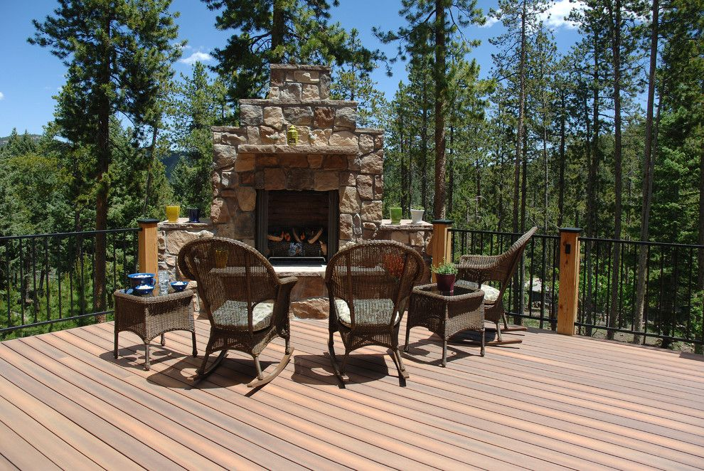 Ceasar Stone for a Rustic Deck with a Fiberon and Fiberon by Fiberon Decking