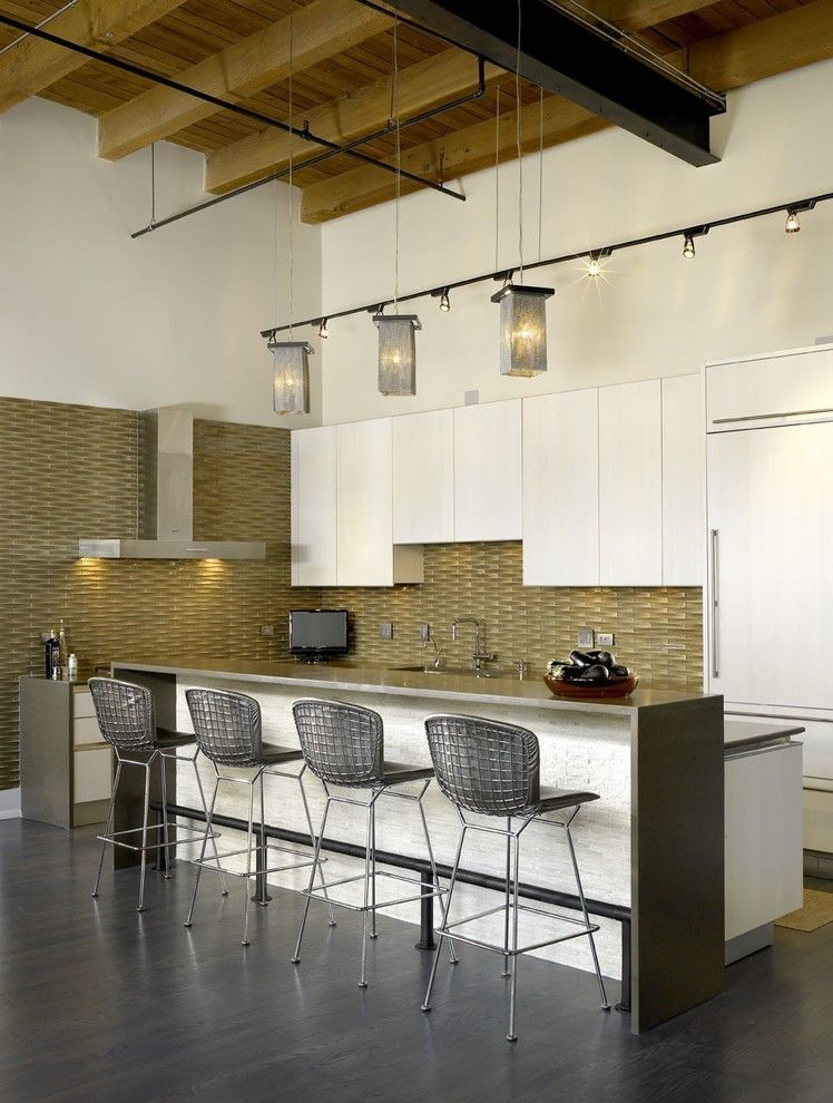 Ceaser Stone for a Industrial Kitchen with a White Kitchen and Jamesthomas, Llc by Jamesthomas Interiors