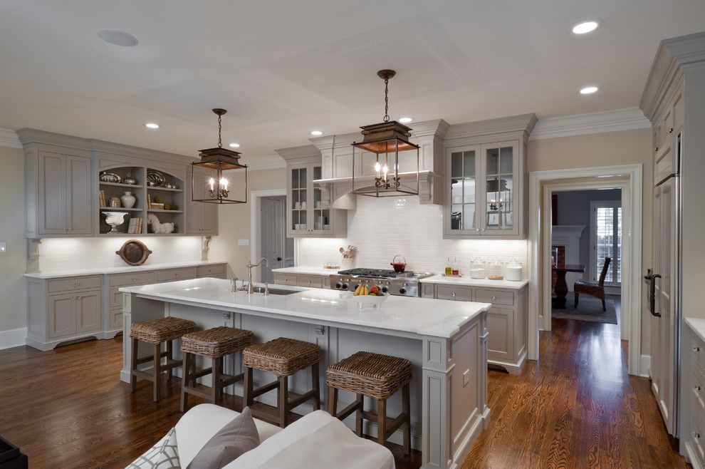Ceaser Stone for a Traditional Kitchen with a Best and Full Home Remodel:  Fifty Shades of Gray by Andrew Roby General Contractors