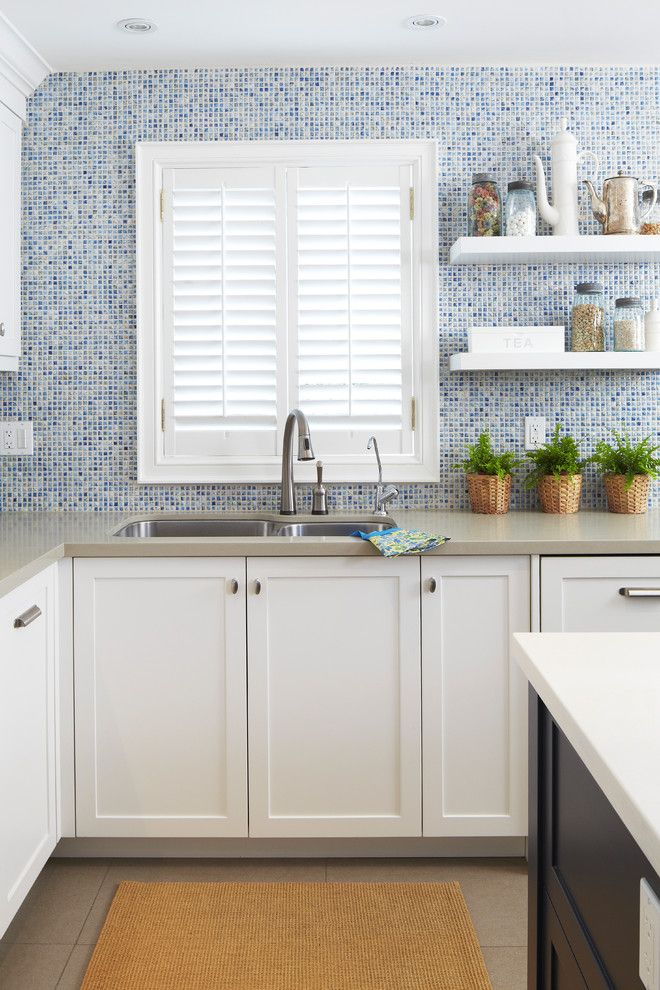 Ceaserstone for a Contemporary Kitchen with a Subway Tile and Moody Blues by Sealy Design Inc.