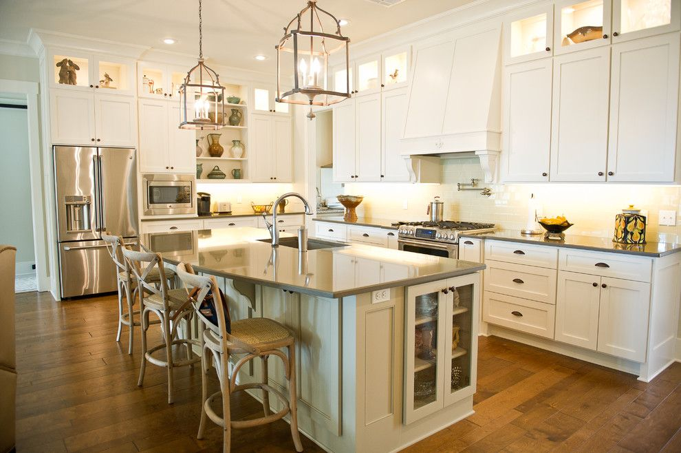 Ceaserstone for a Traditional Kitchen with a Kitchen Island Light and Filmore St.  Covington, La by Cm Combs Homes, Llc