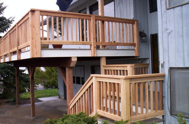 Cedar Creek Lumber for a Craftsman Deck with a Decks and Awesome Decks by Cedar Creek Lumber
