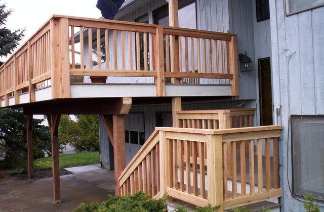 Cedar Creek Lumber for a Craftsman Deck with a Decks and Awesome Decks by Cedar Creek Lumber