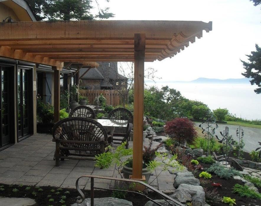 Cedar Creek Lumber for a Craftsman Patio with a Western Red Cedar and Hillman/pharaoh's Pergola by Cedar Creek Lumber