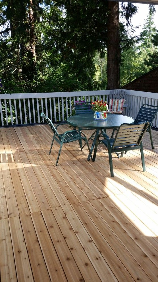 Cedar Creek Lumber for a Traditional Deck with a Western Red Cedar and Awesome Decks by Cedar Creek Lumber