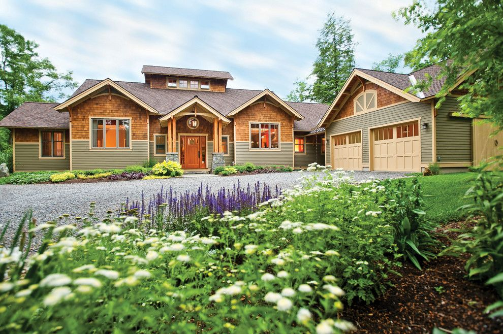 Cedar Creek Lumber for a Traditional Exterior with a Traditional and Kendrick: 2006 Saratoga Showcase of Homes by Phinney Design Group