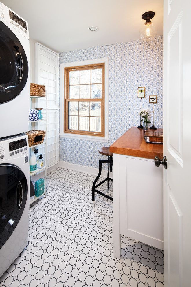 Celebrity Homes Omaha for a Traditional Laundry Room with a Laundry and Updated Vintage by Spaces Interiors/exteriors