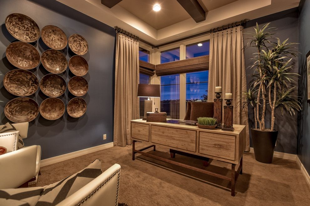 Celebrity Homes Omaha for a Transitional Home Office with a Beige Armchairs and Street of Dreams 2013 by Falcone Homes