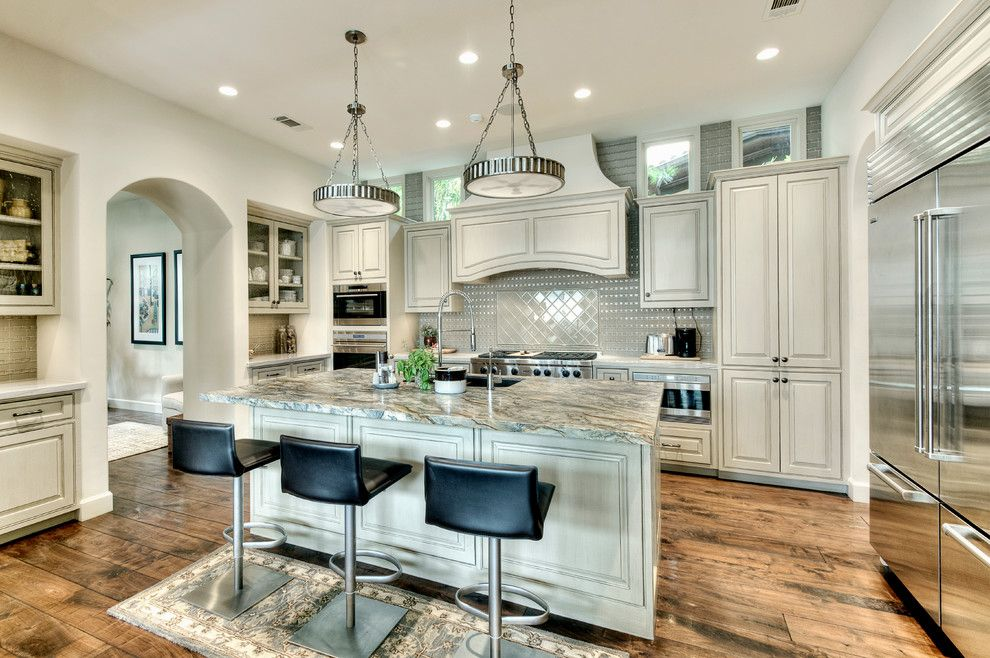 Central Valley Builders Supply for a Mediterranean Kitchen with a Wood Floors and Kitchen by Allan Edwards Builder Inc