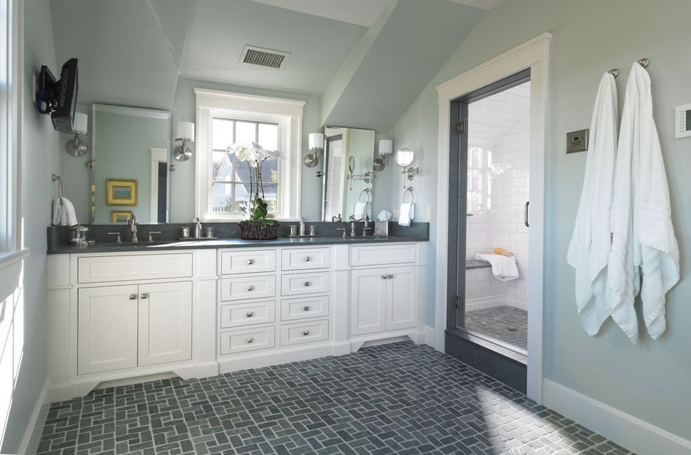 Central Valley Builders Supply for a Traditional Bathroom with a Beach Cottage and Woodmeister Master Builders   Bathroom by Woodmeister Master Builders