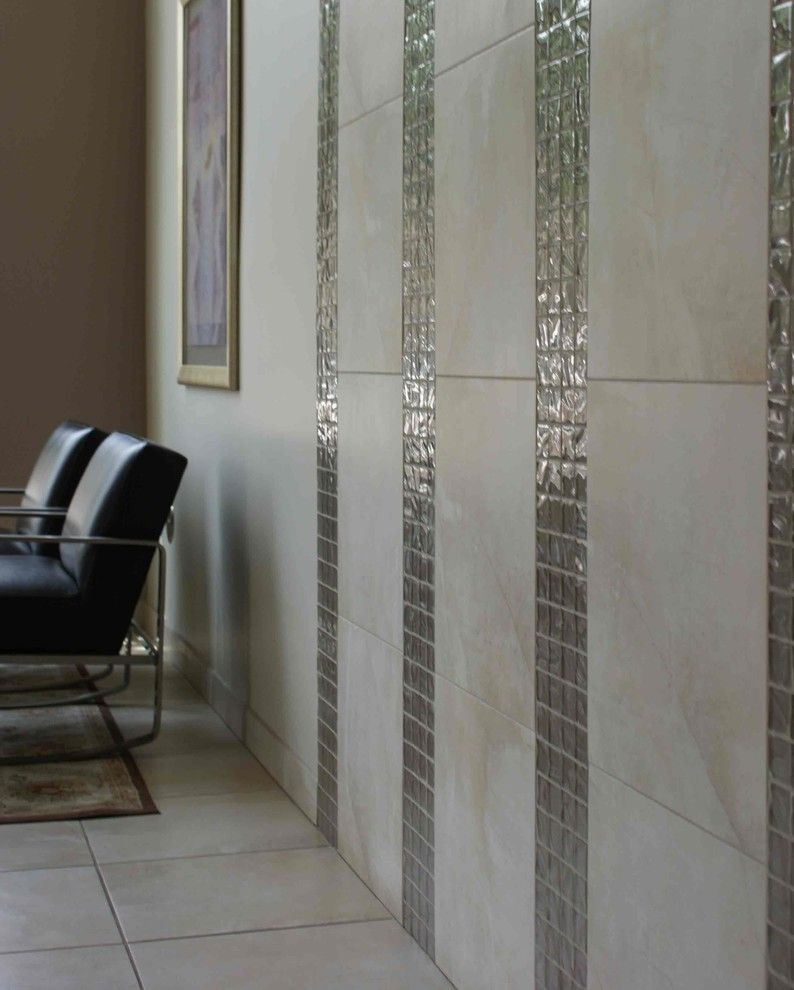 Ceramic Tileworks for a Contemporary Living Room with a Contemporary and Flour Sak Condo by Ceramic Tileworks