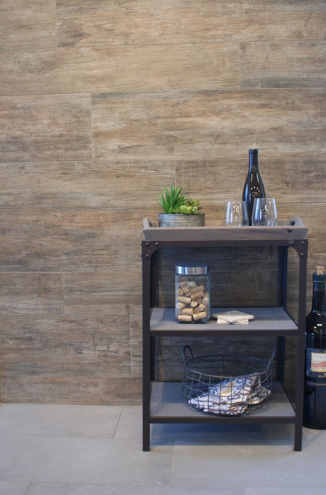 Ceramic Tileworks for a  Spaces with a Modern Tile and Echo (Wall) Urban Concrete (Floor) by Ceramic Tileworks