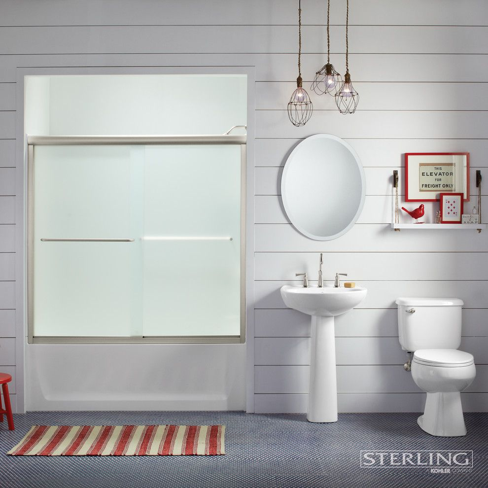 Certa Pro for a Contemporary Bathroom with a Pedestal Sinks and Bathrooms by Sterling Plumbing