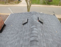Certainteed Landmark for a  Spaces with a Roofing Toronto and Asphalt Shingles Certainteed Landmark Moire Black Roof Installation by TorontoRoofing.ca