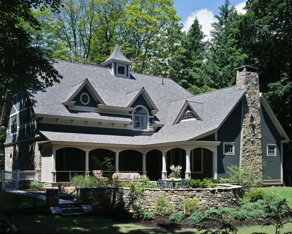 Certainteed Landmark Shingles for a Traditional Exterior with a Patio Furniture and Woodlawn Residence by Witt Construction