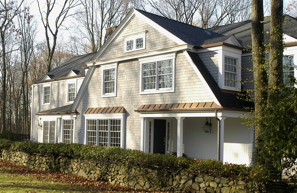 Certainteed Landmark Shingles for a Traditional Exterior with a Traditional and House on Turtle Back by Joseph B Lanza Design + Building