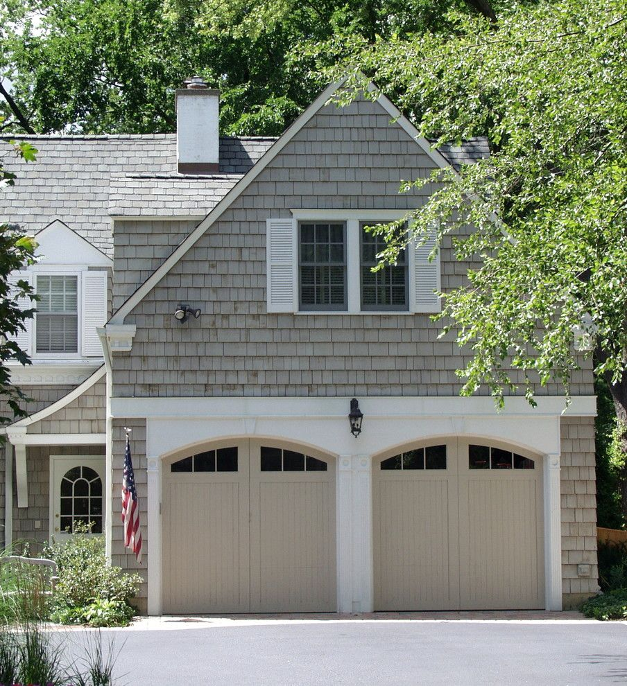 Certainteed Landmark Shingles for a Traditional Garage with a Bench and Seneca by Brehm Architects