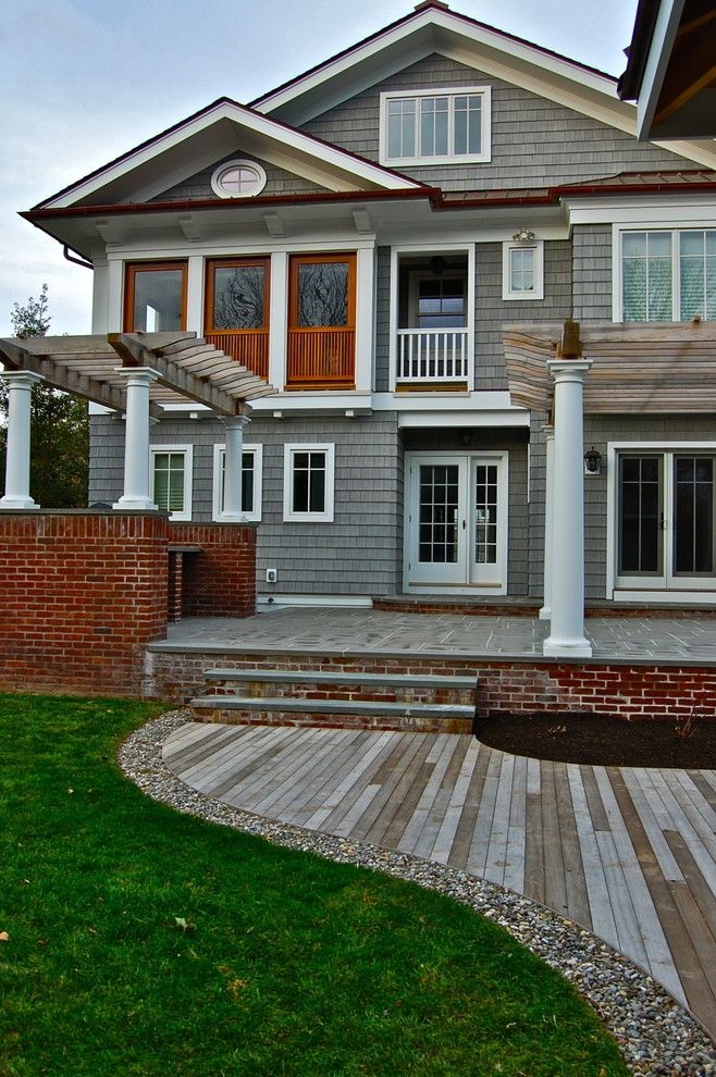 Certainteed Landmark Shingles for a Victorian Exterior with a Outdoor Grill and Project in Process Down the Shore! by Liquidscapes