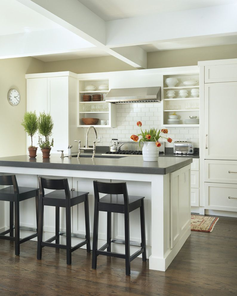 Cesarstone for a Traditional Kitchen with a Shaker Style and Kitchen by Kate Jackson Design