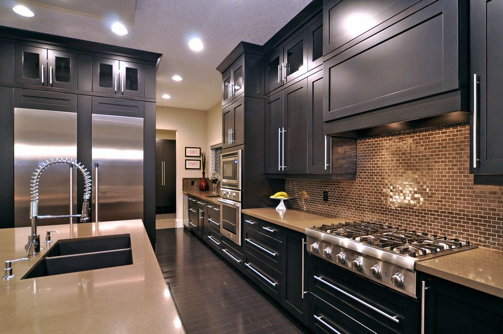 Chalk Paint Kitchen Cabinets for a Contemporary Kitchen with a Frame and Panel Woodwork and Ridge Home by Jordan Lotoski