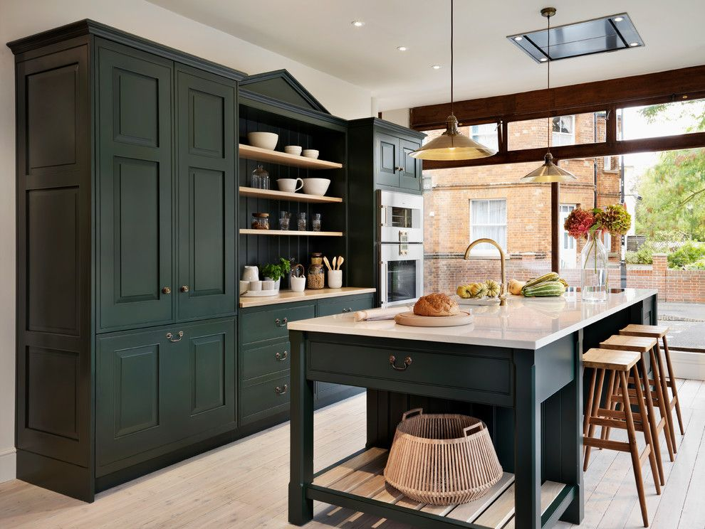 Chalk Paint Kitchen Cabinets for a Traditional Kitchen with a Traditional Kitchen and Teddy Edwards Brooklands by Teddy Edwards