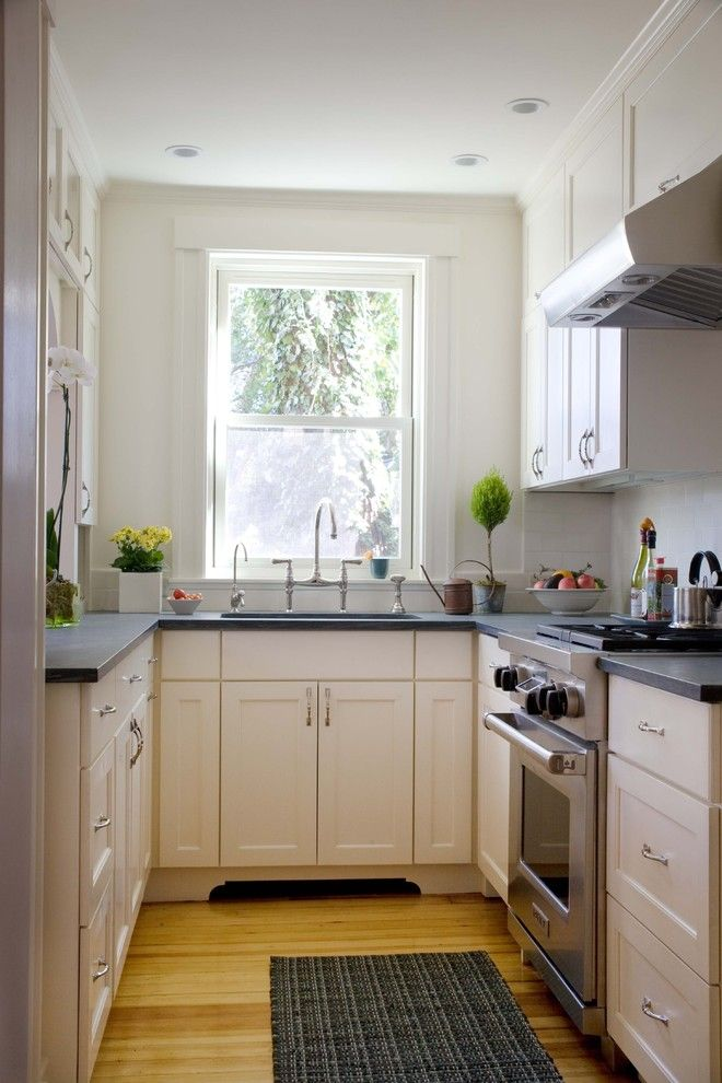 Chalk Paint Kitchen Cabinets for a Traditional Kitchen with a White Cabinets and Classic City Kitchen by Jeanne Finnerty Interior Design