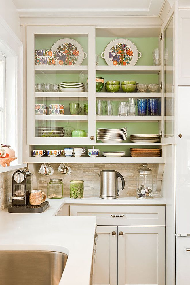 Chalk Paint Kitchen Cabinets for a Traditional Kitchen with a White Kitchen and Coffee Zone by Renewal Design Build