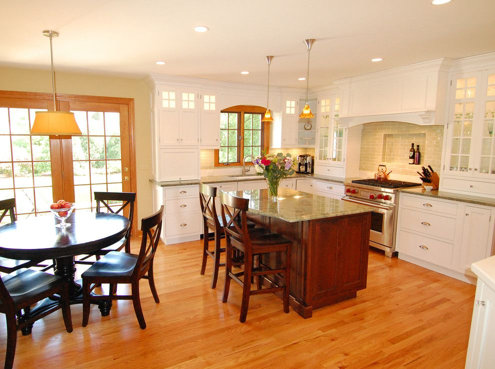 Chalk Paint Kitchen Cabinets for a Traditional Kitchen with a Wood Flooring and Showpiece Kitchen by Normandy Remodeling