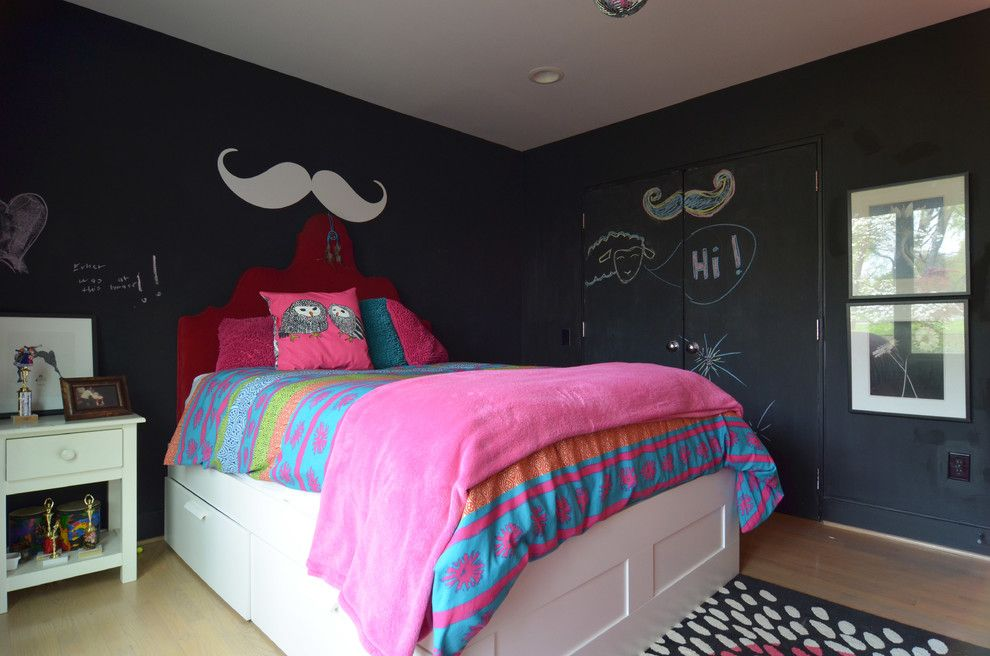 Chalkboard Paint Ideas for a Transitional Kids with a Wall Art and Dallas, Tx: Lenore Locascio by Sarah Greenman