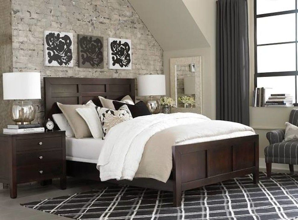 Chapin Furniture for a Transitional Bedroom with a Dark Wood and Gallery by Chapin Furniture Outlet Inc