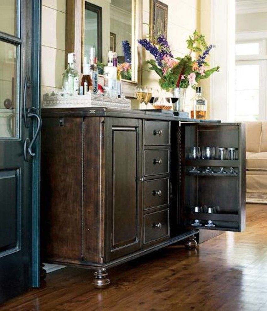 Chapin Furniture for a Transitional Living Room with a Bar Cart and Gallery by Chapin Furniture Outlet Inc