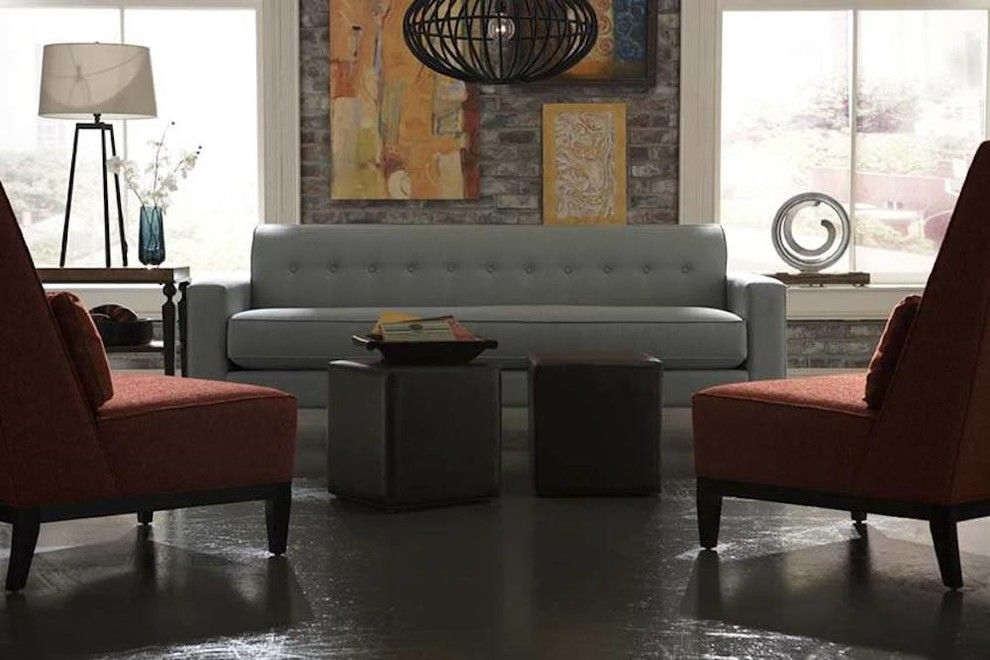 Chapin Furniture for a Transitional Living Room with a Red Chairs and Gallery by Chapin Furniture Outlet Inc