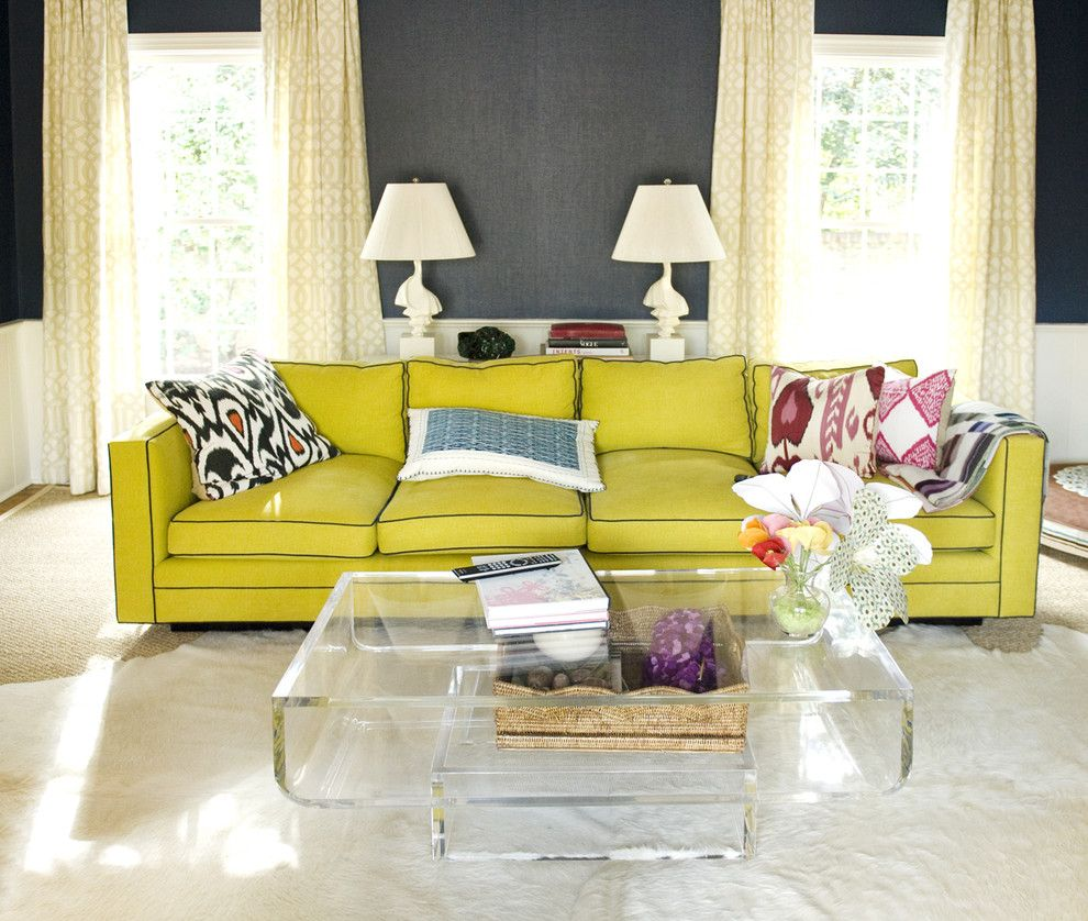 Chartreuse Color for a Eclectic Living Room with a Bright Colors and Eclectic Living Room by Charlesluck.com