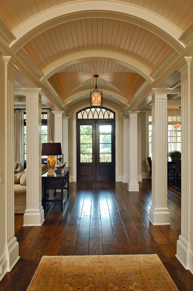 Chelsea Plank Flooring for a Traditional Entry with a Lighting and Hallway by Phillip W Smith General Contractor, Inc.