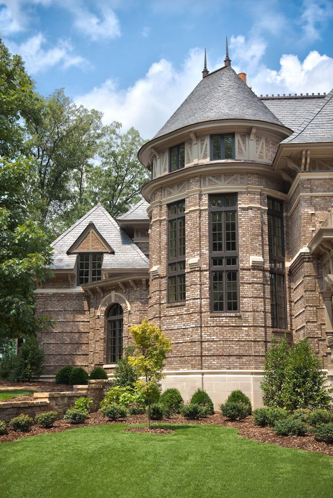Cherokee Brick for a Traditional Exterior with a Brick Wall and Exterior, Private Residence at the Ledges by Matheny Goldmon Architects
