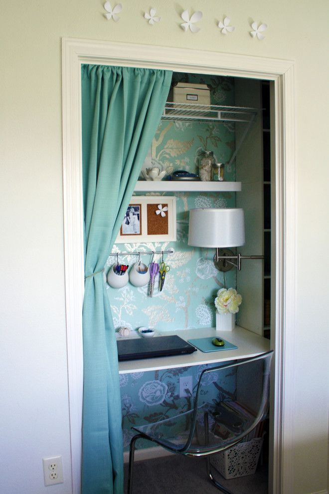 Chesapeake Rv Solutions for a Traditional Home Office with a Wall Decor and Bedroom/office by Iheartorganizing