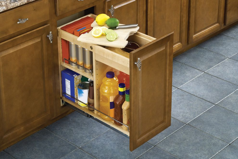 Chesapeake Rv Solutions for a Traditional Kitchen with a Pantry Storage and Kitchen Cabinet Organization Solutions by Ornamental Mouldings
