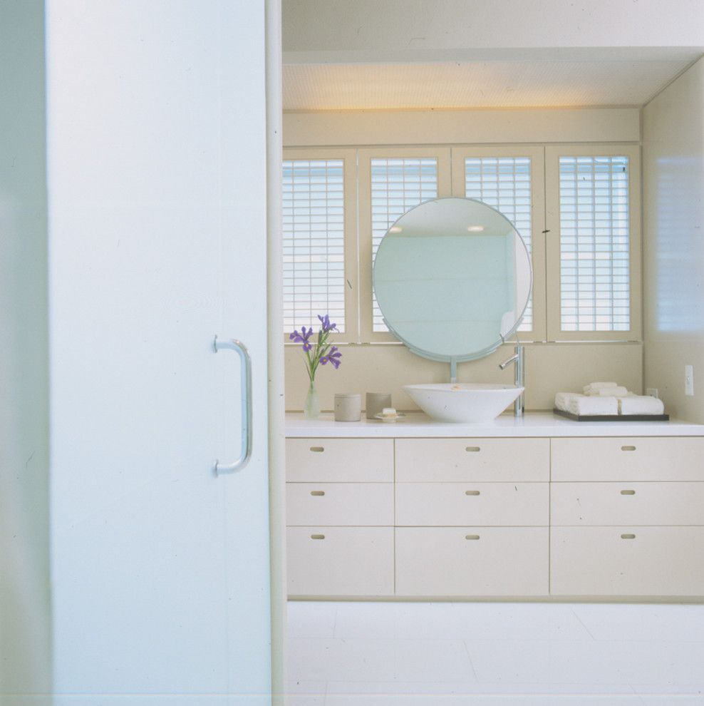 Chicago Faucet Shoppe for a Contemporary Bathroom with a Turquoise and Highland Park by Powell/kleinschmidt, Inc.
