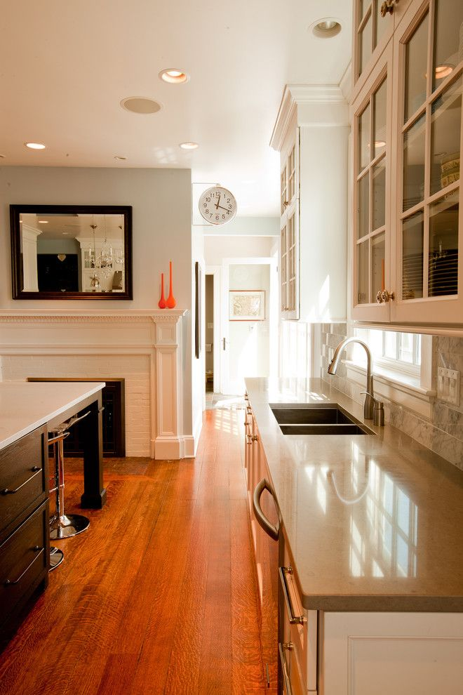Chicago Faucet Shoppe for a Traditional Kitchen with a Fireplace and Transitional Glam Kitchen by Normandy Remodeling